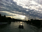Boat on Seine at Dusk, Paris 2