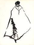Fashion Illustration Cape Coat