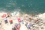 Overexposed beach