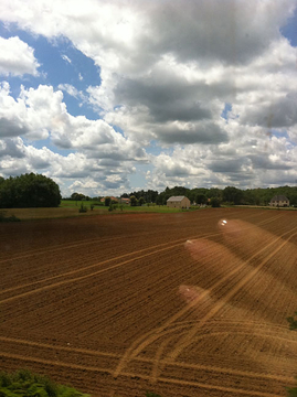 Train, Landscape, Hand - Cahors to Paris