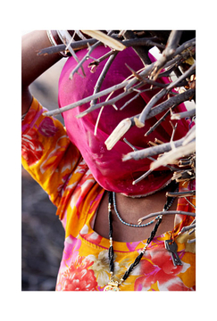 India (Woman carrying sticks)