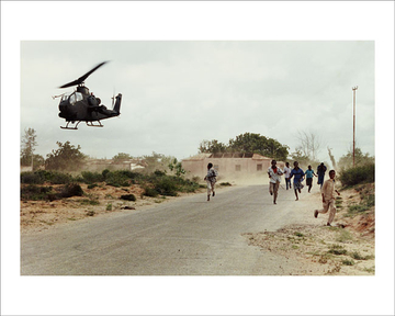 Somali children flee